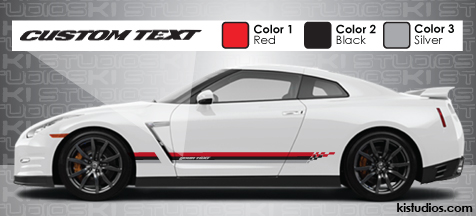 Custom Nissan GTR Nismo Graphics kit