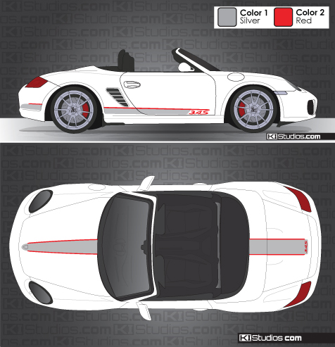 Porsche Boxster Side Stripe Stickers