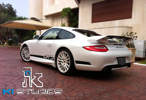 Porsche Carrera S Tech Art Body kit side stripe decals