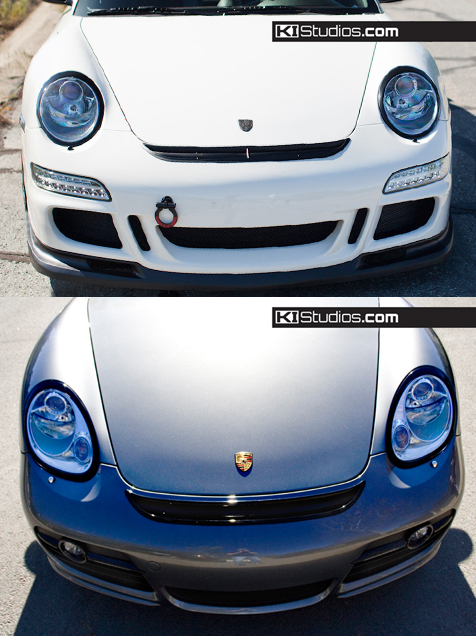 Porsche headlight cover trim decals