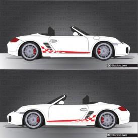 Porsche 987 Boxster Stripe Kit 003