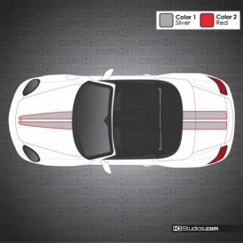 Porsche 987 Boxster Stripe Kit 008