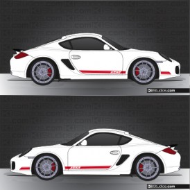 Porsche 987 Cayman Side Stripe Decal
