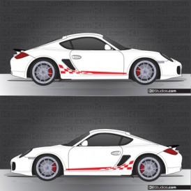 Porsche 987 Cayman Stripe Kit 003