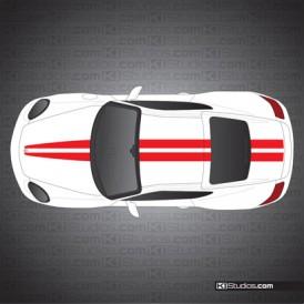 Porsche 987 Cayman Stripe Kit 007
