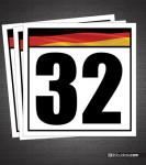 German Flag Reusable Racing Numbers