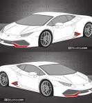 Lamborghini Huracan vent decals
